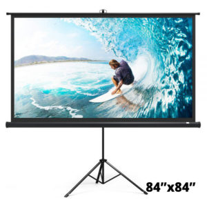 Projector Screen Tripod Stand 6 Feet 72″x72″