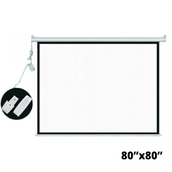 7 Feet Motorized Remote Control Projector Screen
